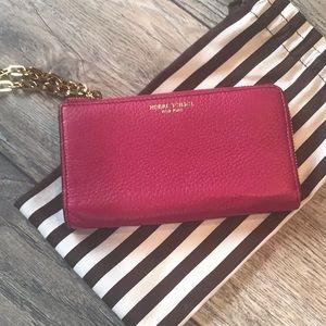 Henri Bendel Wallet in Gorgeous Fuschia Leather